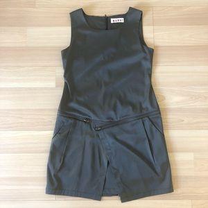 MARNI Metallic Grey Structured Mini-Dress
